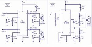 Wiring Schematic Diagram  Stereo Audio Amplifier Using Tda