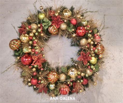 ideas  decorar tu corona de navidad ana galena