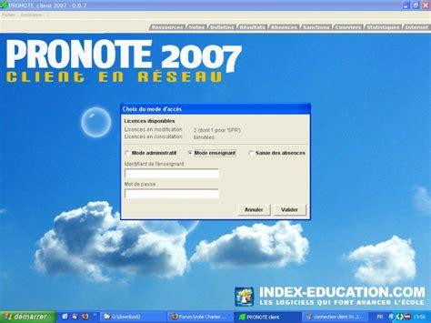 installer le client pronote pour les enseignants
