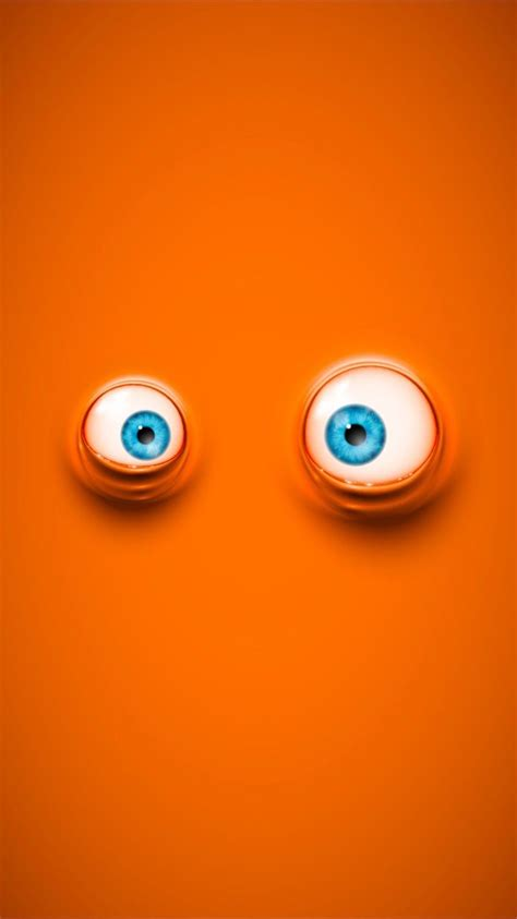 Orange Eye Wallpaper by Cool On Orange Background Wallpapers For