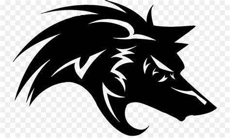 wolf logo png    transparent gray