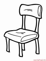 Chair Clipart Stuhl Coloring Colouring Silla Sheet Title Sheets Clipartmag Cliparts Coloringpagesfree sketch template
