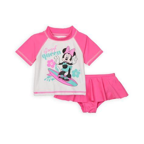 disney minnie mouse newborn girls swim shirt bottoms