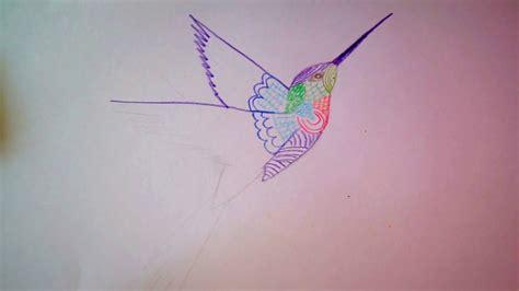 kolibri zeichnen  vogel malen   draw  humming