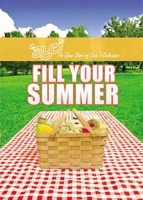 Oyo Advertising Summer Picnic Basket Picnic