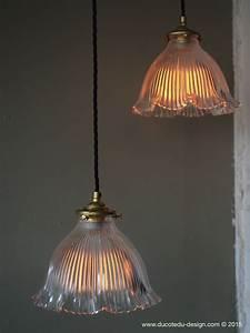 Abat Jour Lampe : abat jour opaline lampe industrielle holophane ~ Teatrodelosmanantiales.com Idées de Décoration