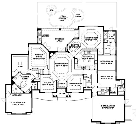 side split house plans country house plan on side split floor plans our