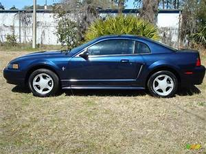 2002 True Blue Metallic Ford Mustang V6 Coupe #3971279 Photo #2 | GTCarLot.com - Car Color Galleries