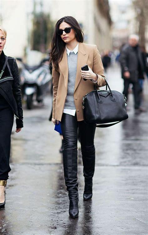 comment porter des bottines 1001 looks tendance avec le pantalon en cuir femme