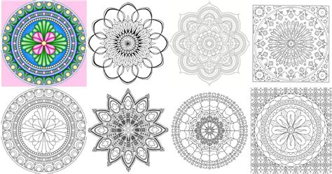 amazingly relaxing  printable mandala coloring pages  adults diy crafts