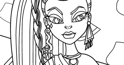 Monster High Of Nefera De Nile Coloring Page