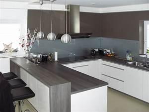 Hochglanz Weiß Küche : moderne k chen u form grau ~ Michelbontemps.com Haus und Dekorationen