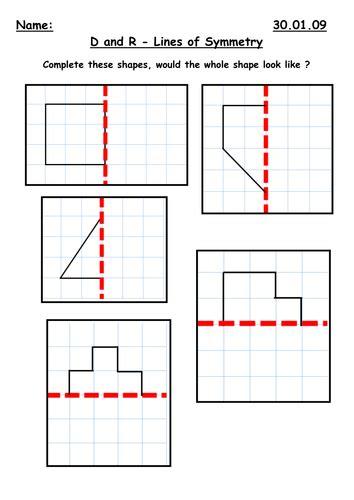 symmetry along a mirror line by kbarker86 teaching