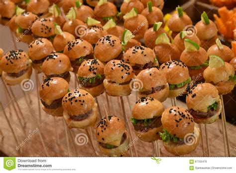 am駭agement mini cuisine mini burgers fast food stock photo image 67705476