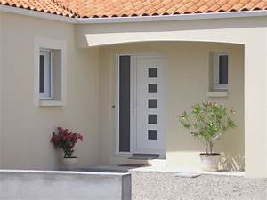 Porte D Entrée Blanche : guillet menuiserie porte d entree blanche hlm01 ~ Melissatoandfro.com Idées de Décoration