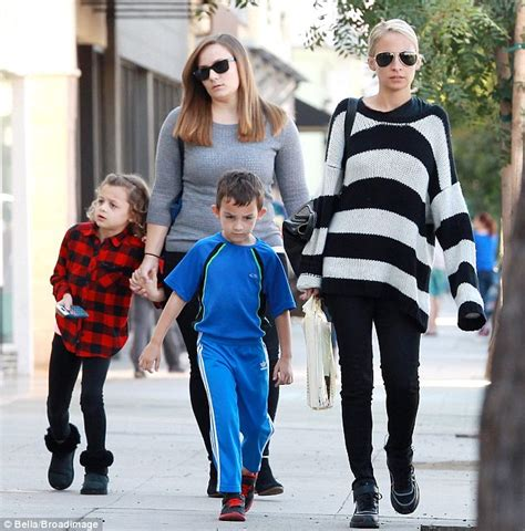 bloom purse richie wears stripes as she shops with kids in