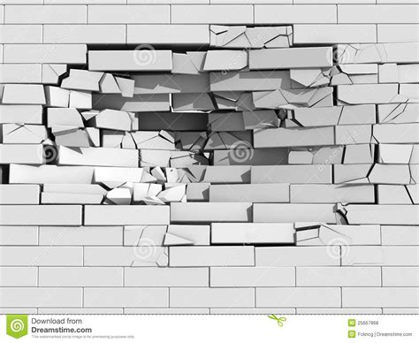 brick wall drawing crumbling brick wall stock illustration image of fall 3d
