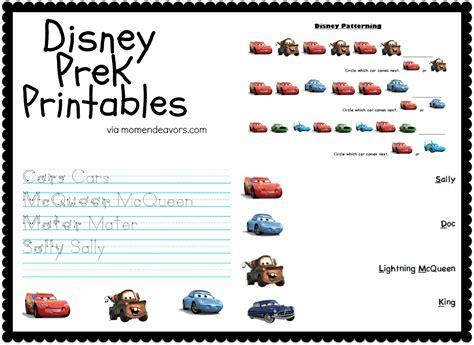disney pixar cars prek printable activity sheets travel 631 | Disney Printables