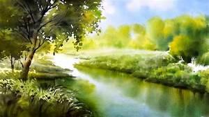 quot silent river quot watercolor landscape painting paintingtube