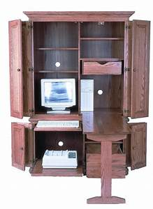 """Amish 51"""" Computer Armoire"""