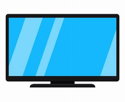 Tv Cartoon Modern Vector Flatscreen Clip Isolated
