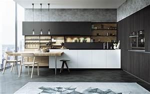 cuisine noire mat et cuisine noire et blanche 48 With cuisine noire et blanche