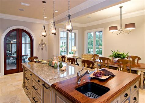 is the butcher block quot lipped quot the granite on this island