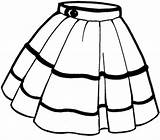 Skirt Clip Clipart Vector Clker Cliparts sketch template