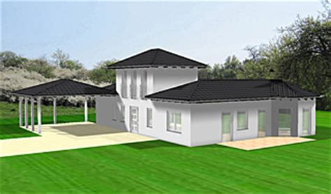 atrium bungalow    variante  grundriss mit erker