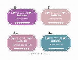 free editable love coupons for him or her With love coupons for him template
