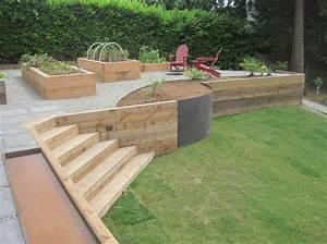 Wood retaining wall design ideas home decor interior