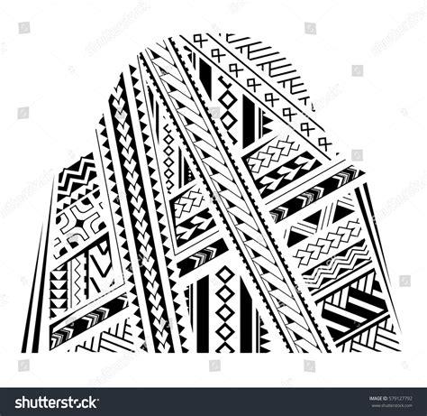 samoa style ornament good bicep sleeve stock vector  shutterstock