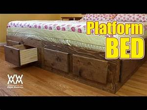 Make a king sized bed frame with lots of storage! - YouTube