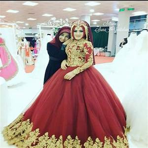 2017 red ball gown wedding dress muslim bridal gowns long With muslim wedding dresses 2017