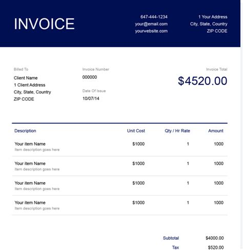 notary public invoice template freshbooks