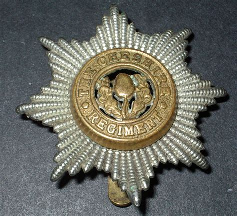 ww2 military ww2 british army the cheshire regiment hat cap badge