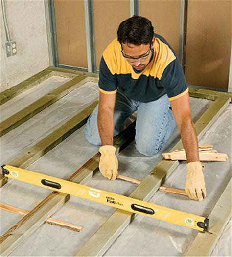wood floor leveling contractors floor sleepers