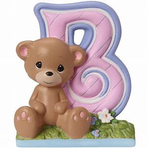 baby gift b is for bear alphabet resin figurine With precious moments letters