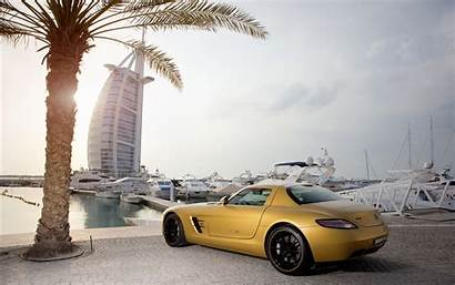 Automotive Mercedes Vehicle Yellow Rim Sky Compact