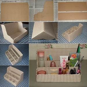 Diy Nice Cardboard Desktop Organizer Good Home Diy Smart Diy Modern Desk Organizers