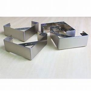 4 pc l shape stainless steel legs furniture sofa cabinet for Sectional sofa metal legs