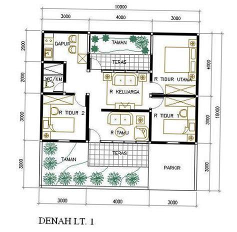 denah rumah ukuran    kamar top rumah