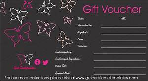 Marriage Certificate Templates Butterfly In Black Gift Certificate Template