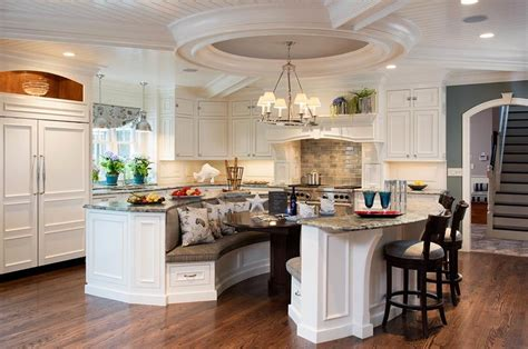 kitchen island with booth seating instyle cabinets kitchen bath 4320 rochester rd 8238