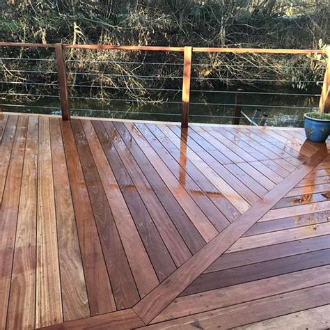 wood flooring road weybridge timber decking balau hardwood with balustrade weybridge all on deck