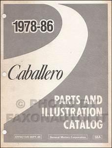 1986 Chevy Big Car Repair Shop Manual Original