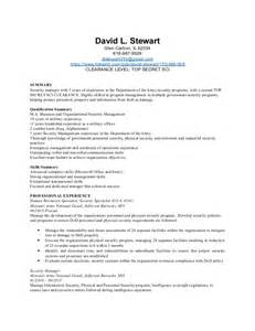 Physical Security Officer Resume by Resume Help Experience