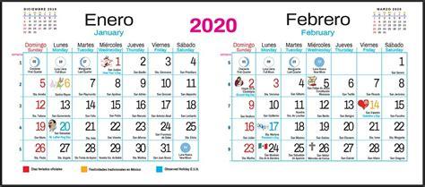 calendario bimestral santoral en formato digital