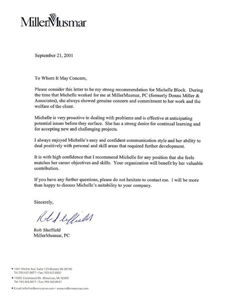 letter of recommendation template for employee letter of recommendation for employment personal letter of within recommendation letter for