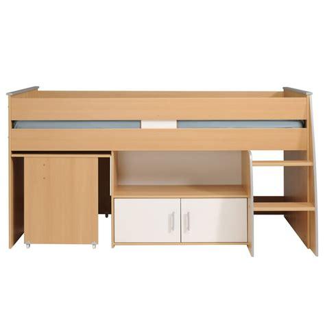 lit combine bureau lit combiné avec bureau quot gabriel quot 90x200cm marron